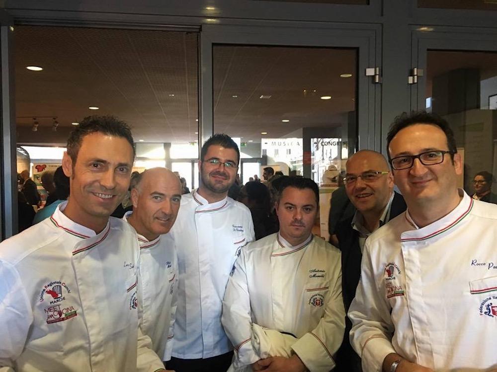 Meet in cucina Marche - Luca Santini a Sinistra e il presidente regionale a destra Rocco Pozzulo