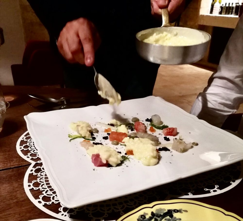 Pasha' - pesci, crostacei e riso al limone e cipollotto