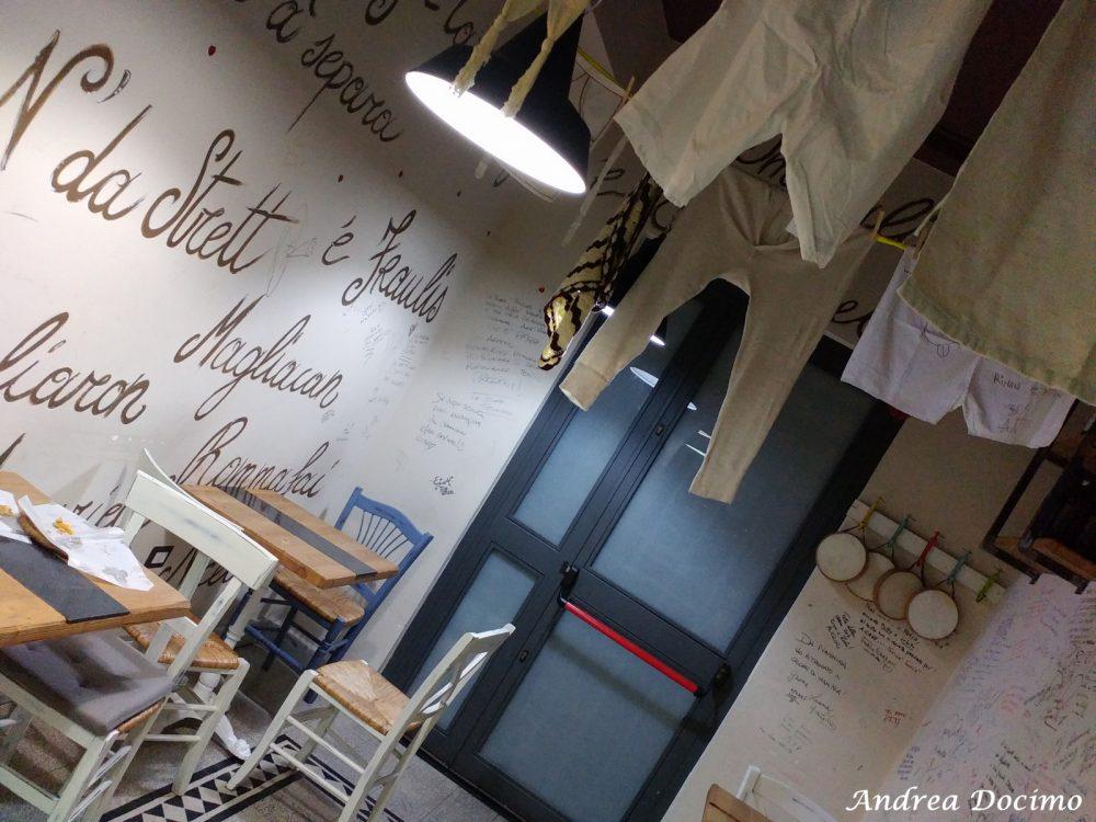 Pietro Parisi e Le Cose Buone di Nannina. La sala con le scritte sui muri dedicate a Nannina