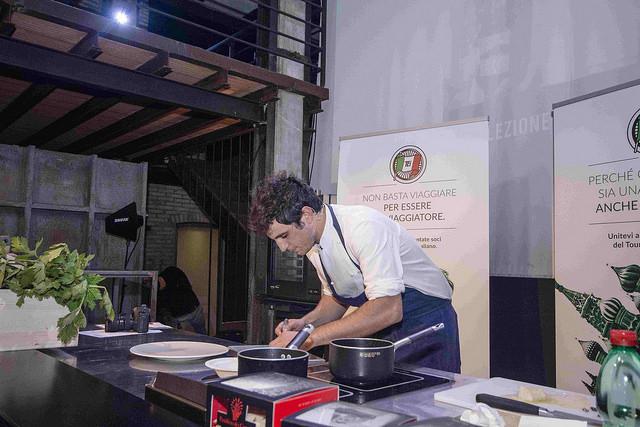 Stefano durante la competizione. Foto di Witaly