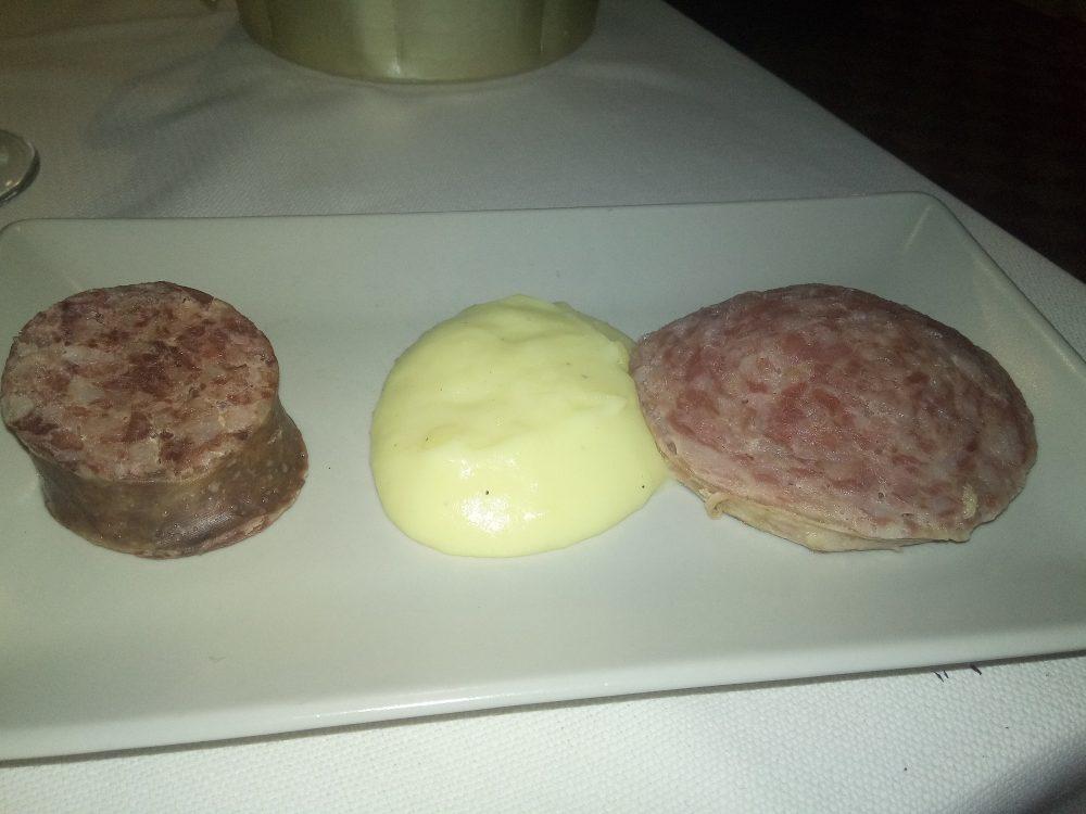 Trattoria Bjrot - Salame cotto, mortadella di fegato e polenta