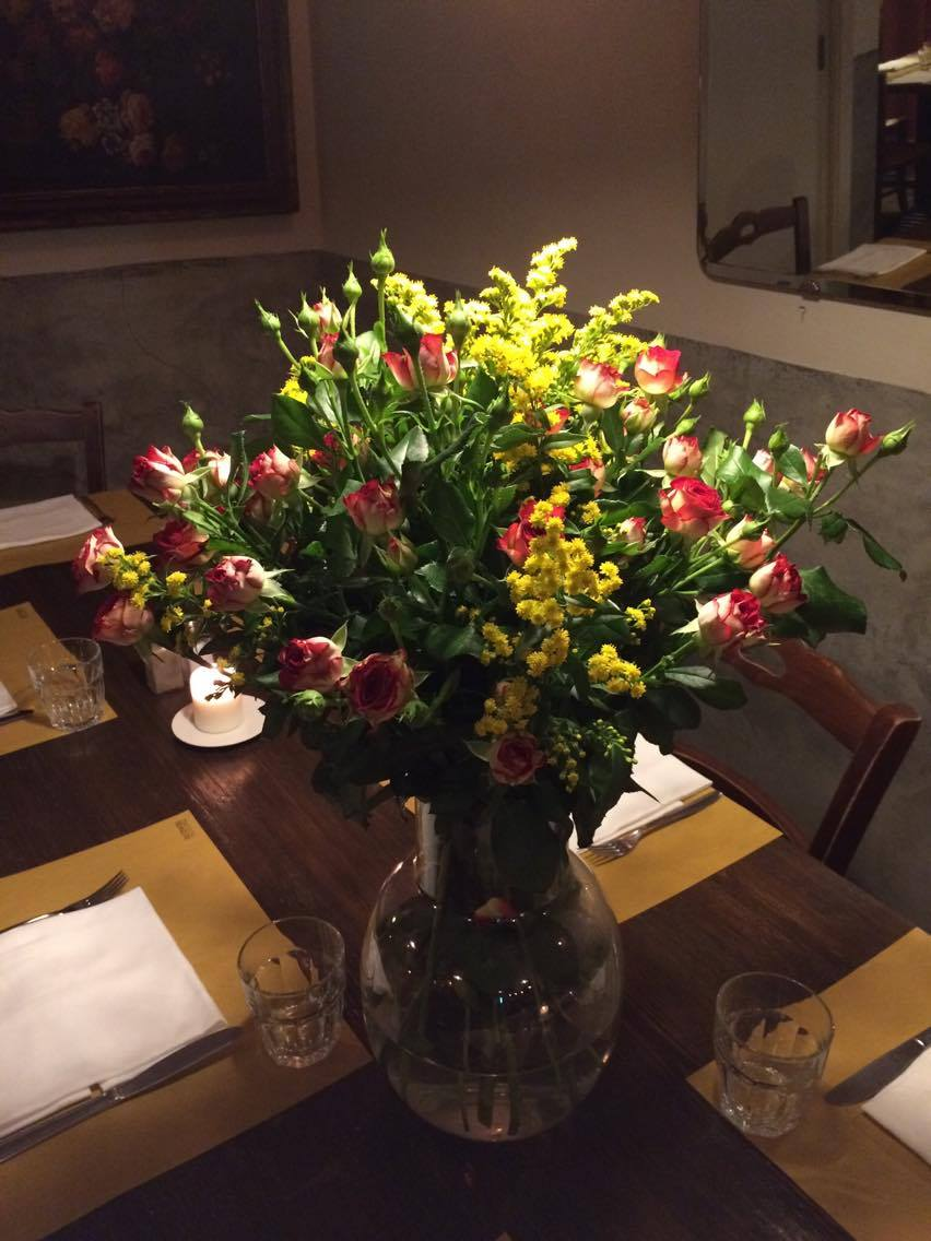 Trattoria Pennestri, i fiori freschi