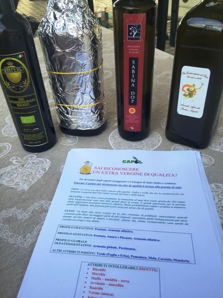 Vino e Olio in Festa - laboratorio sull'olio extravergine di qualita'