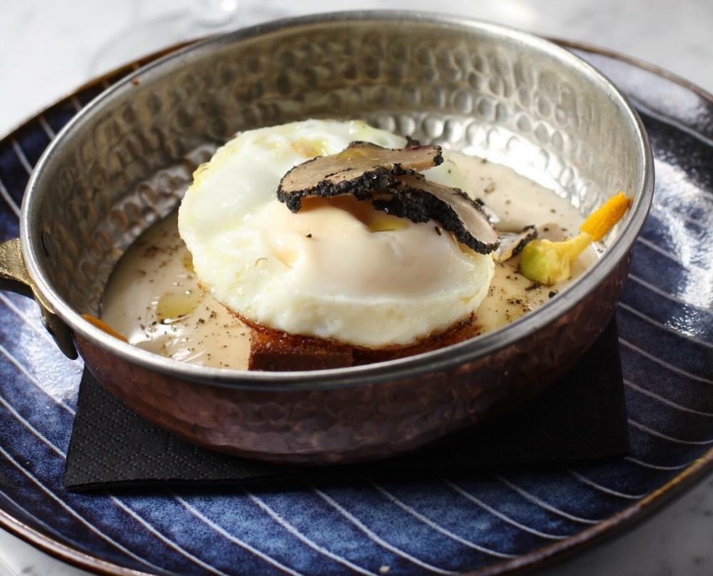 Bradoburger - uovo, fonduta e tartufo