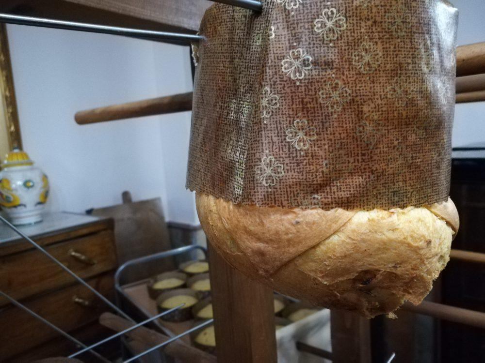 Colle D'Ercole - Il Panettone salato in fase di raffreddamento