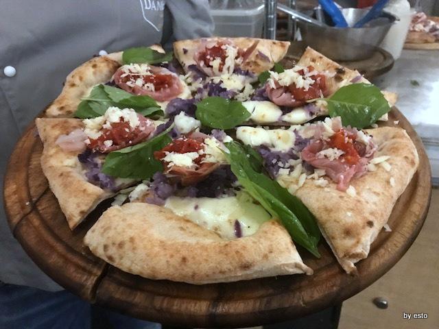 Daniele Gourmet Giuseppe Maglione Pizza violetta