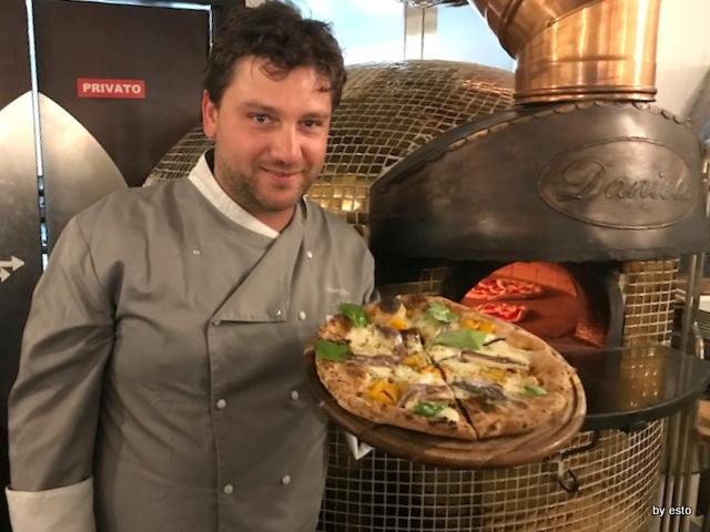 Daniele Gourmet pizza con impasto al limone e gamberi