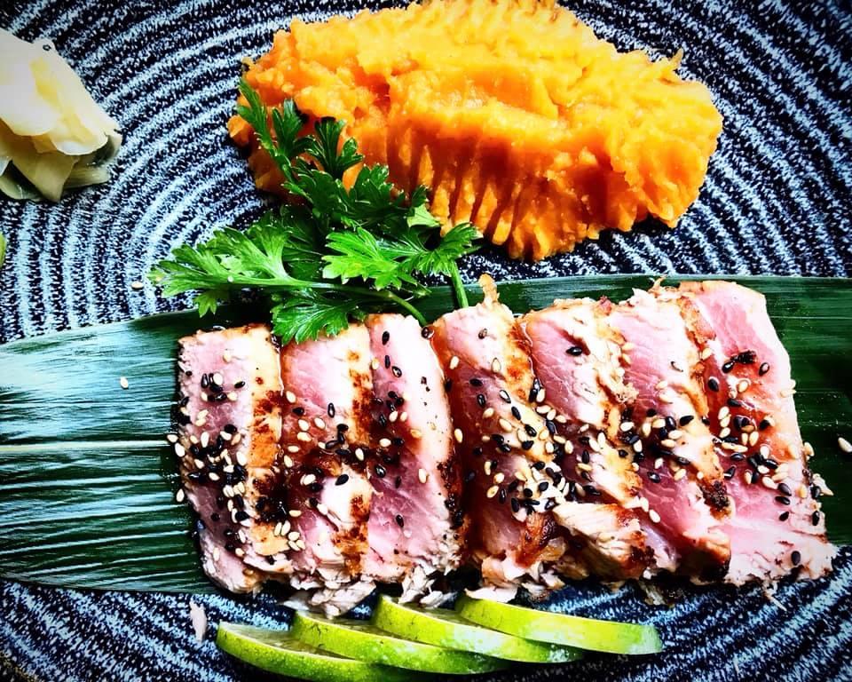 Misaki Sorrento, Tataki di Otoro e Patata Dolce al Limone di Sorrento