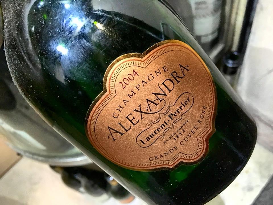 La Salsamenteria, Champagne Laurent Perrier Alexandra' Rose' 2004