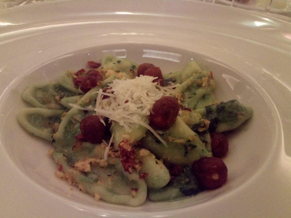 Four Seasons Hotel Milano, Cautarogni con cime di rapa, borzillo e mollica