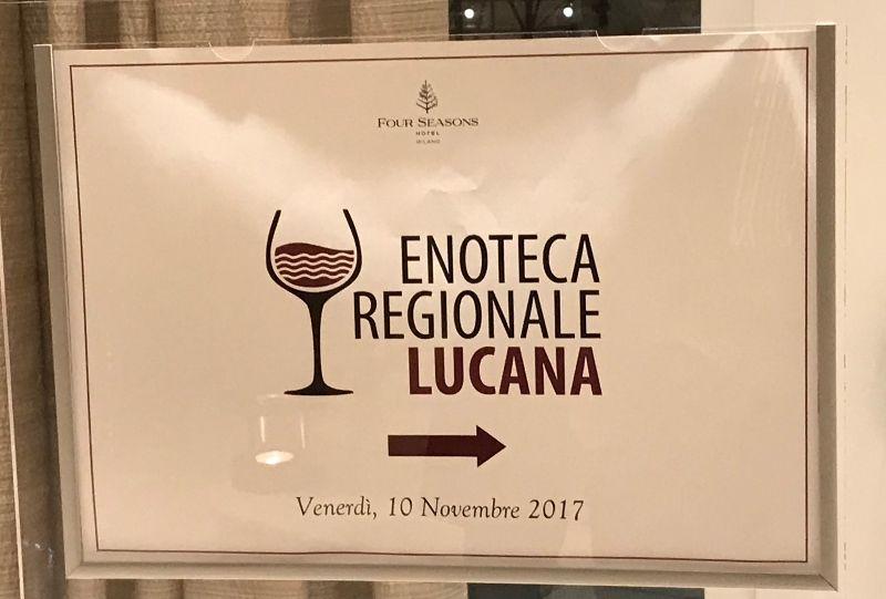 Hotel Seasons Milano, Locandina di Enoteca Regionale Lucana