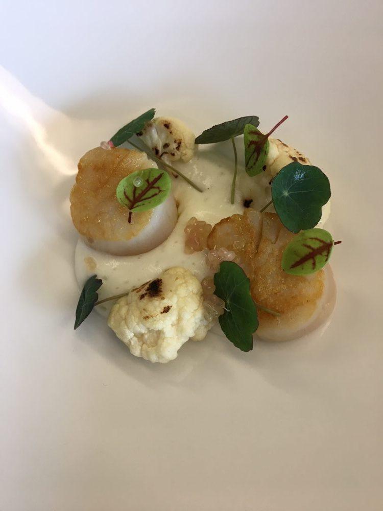In The Kitchen Tour - Capesante, cavolo e nasturzio- chef Giuseppe Stanzione