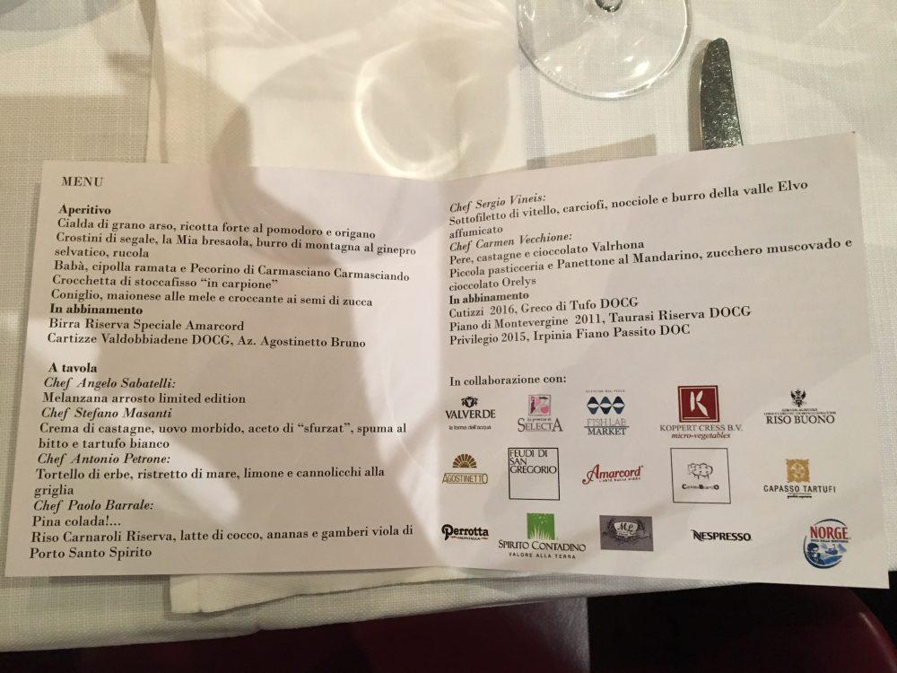 In The Kitchen Tour - Il menu' della serata