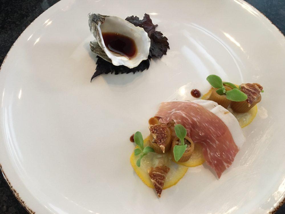 In The Kitchen Tour - Pasta marinata alla soia, ostriche, fichi secchi, yuzu e culatello avellinese-chef Francesco Franzese