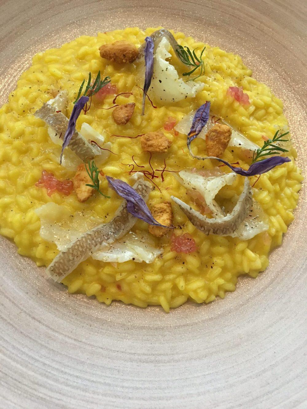 In The Kitchen Tour - Riso carnaroli, zafferano, stoccafisso e caviale di limone- chef Basilio Avitabile