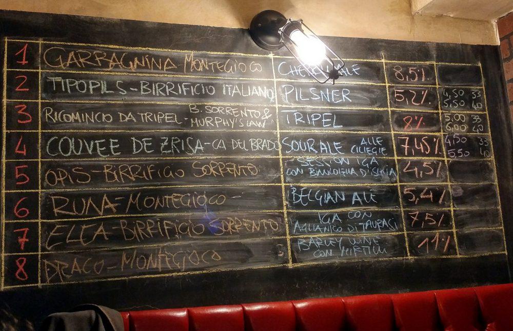 Le birre alla spina per la serata