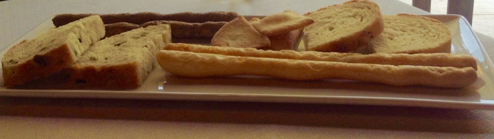 Nadia, Erbusco, pane e grissini