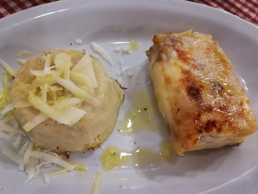 Osteria Summa Terra - Tortino di Verza e Millefoglie di patate di Avezzano con Salsiccia e Provola di Agerola