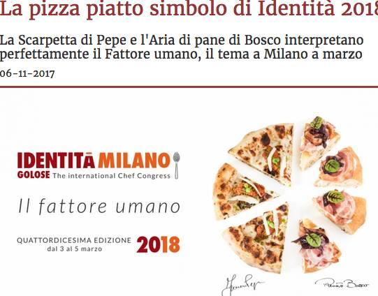 Pizza piatto simbolo di Identità Golose