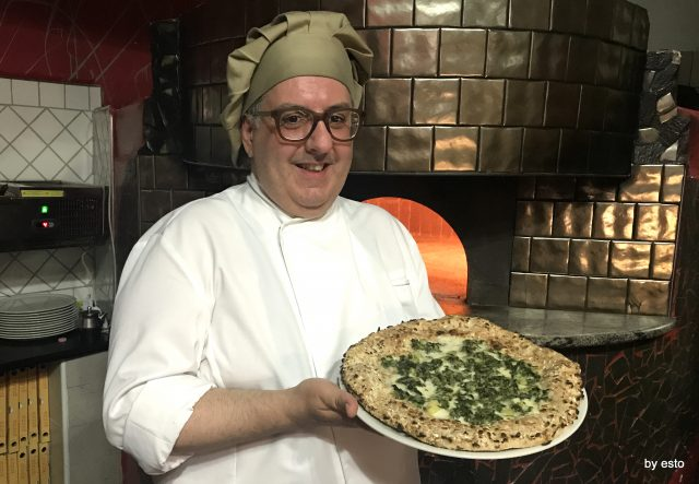 PizzaArt Vito De Vita pizza cicoria e patate