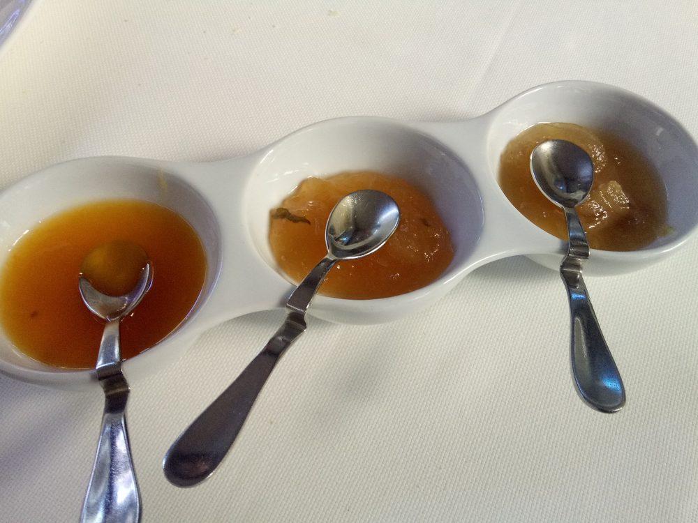 Ristorante La Piana, Composte di cipolla, di arancia e di zenzero