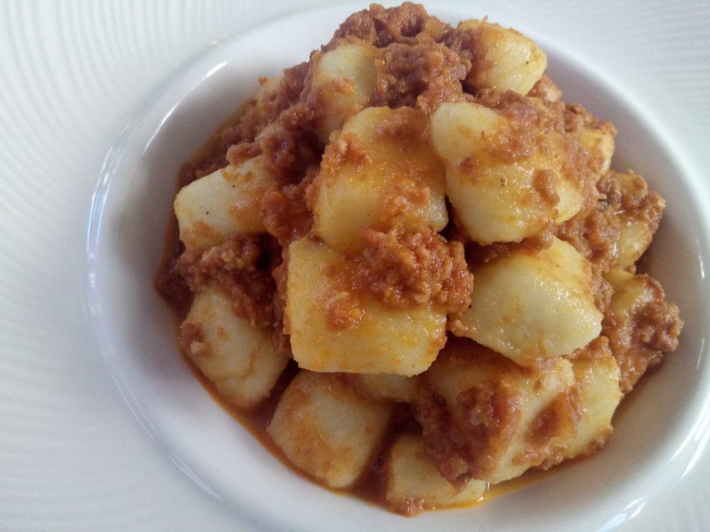 Ristorante La Piana, Gnocchetti di patate di Oreno con fonduta di formaggio fresco di Montevecchia