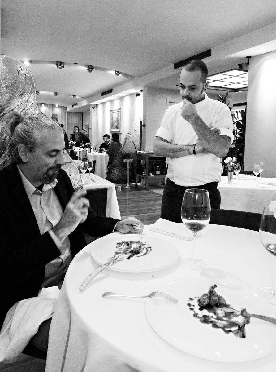 Romano, con lo chef