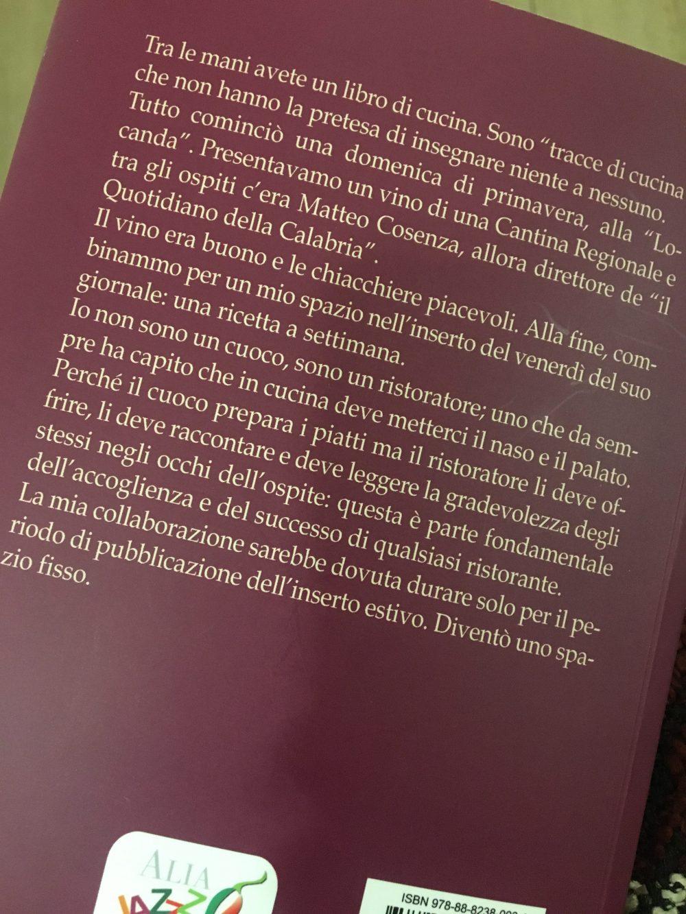 Tracce di cucina di Calabria, il libro di Pinuccio Alia