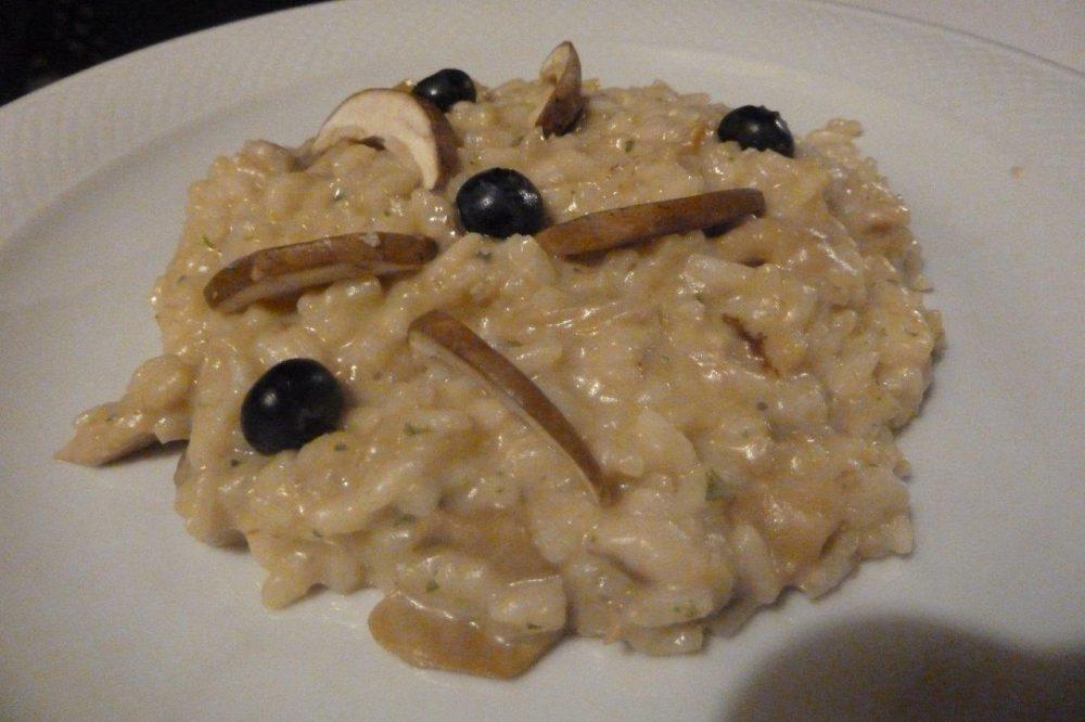 Trattoria Visconti, risotto funghi e mirtilli