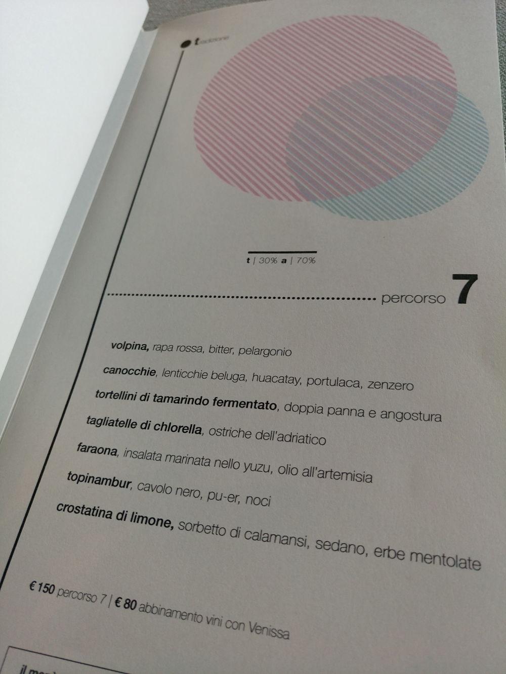 Venissa menu' - Francesco Brutto, Chiara Pavan