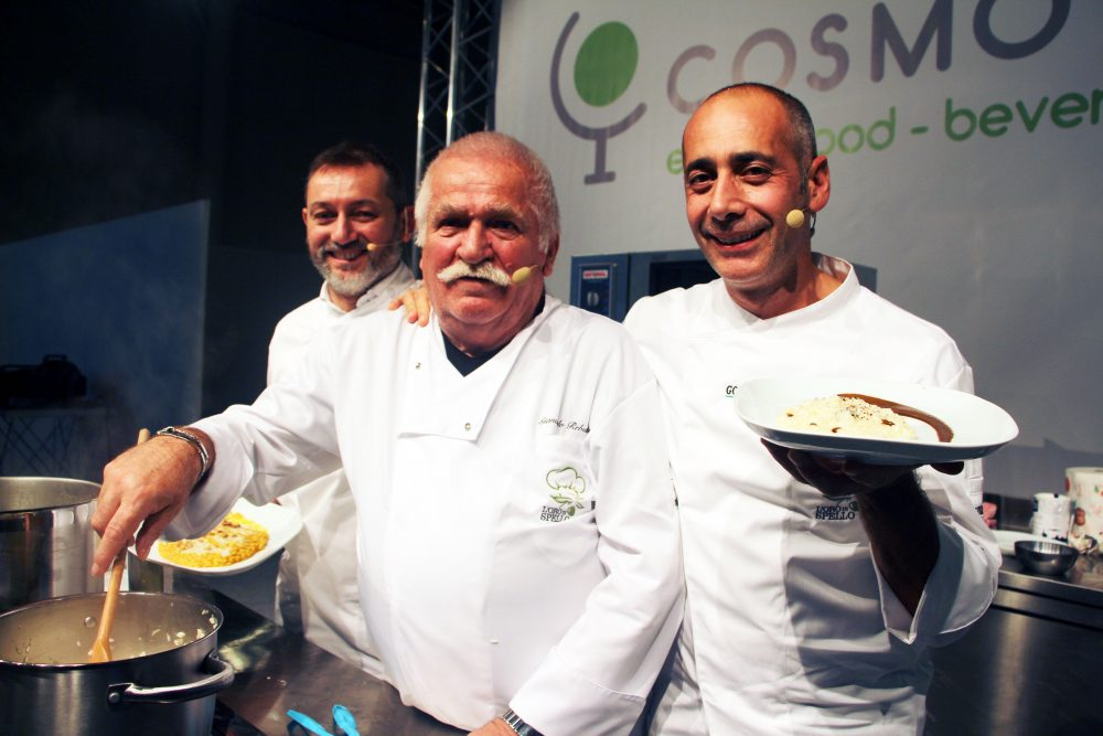 Chef De Fabiani, Rebuscini e Sala all'anteprima di CosmoFood di Vicenza