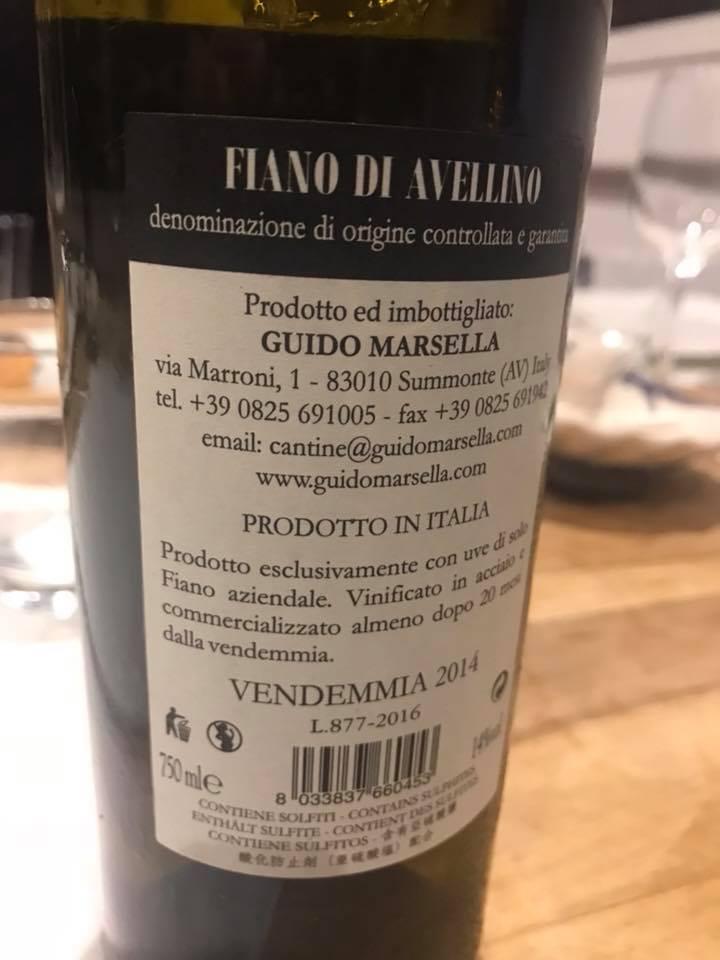 Fiano di Avellino 2014 Guido Marsella