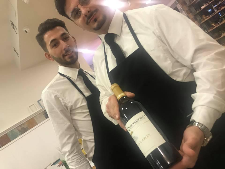 Carmine Donzetti, il servizio e il vino