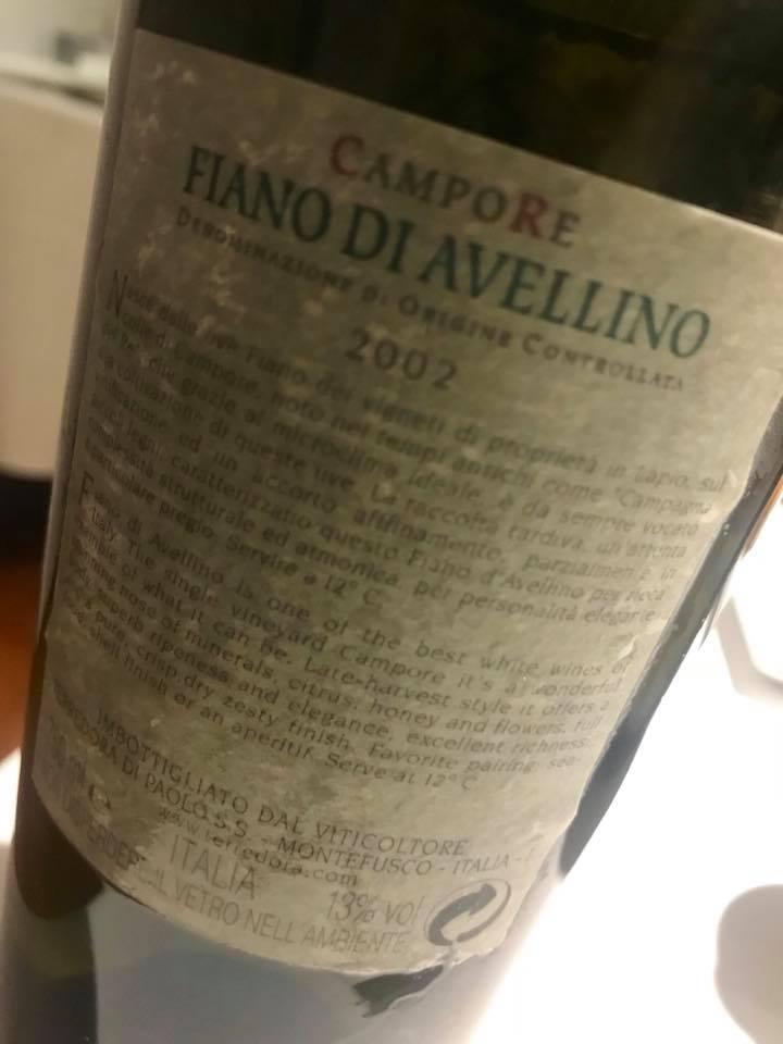 President Pompei, Fiano di Avellino CampoRe 2002