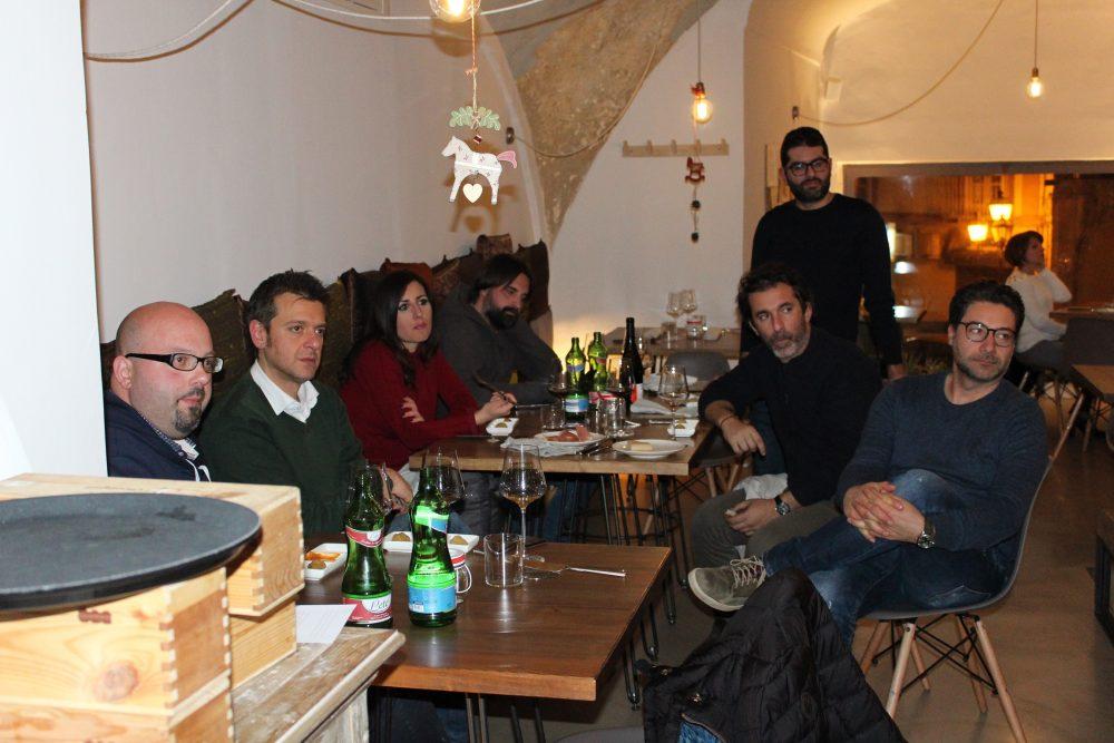 Bistrot26 – alcuni produttori e ospiti dell'evento con Mario Basco
