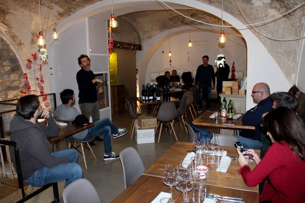 Bistrot26 – gli ospiti dell'evento, in risalto Marco Marrocco della Cantina Tronconi