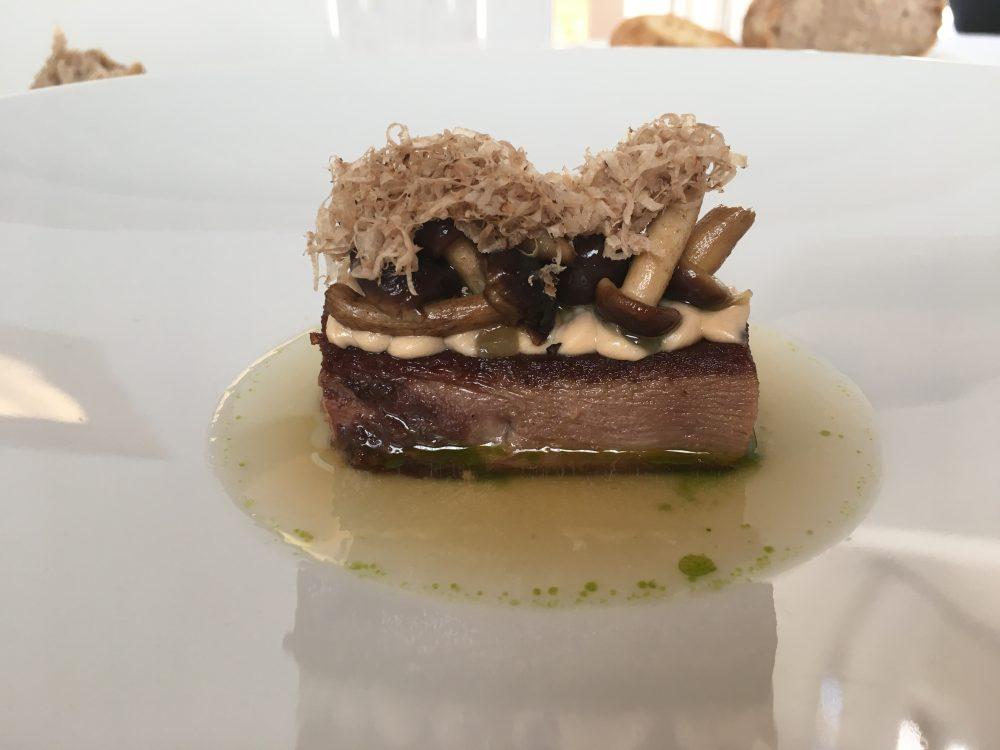 Arbustico - Lingua vitello, nocciola, pioppini e tartufo bianco