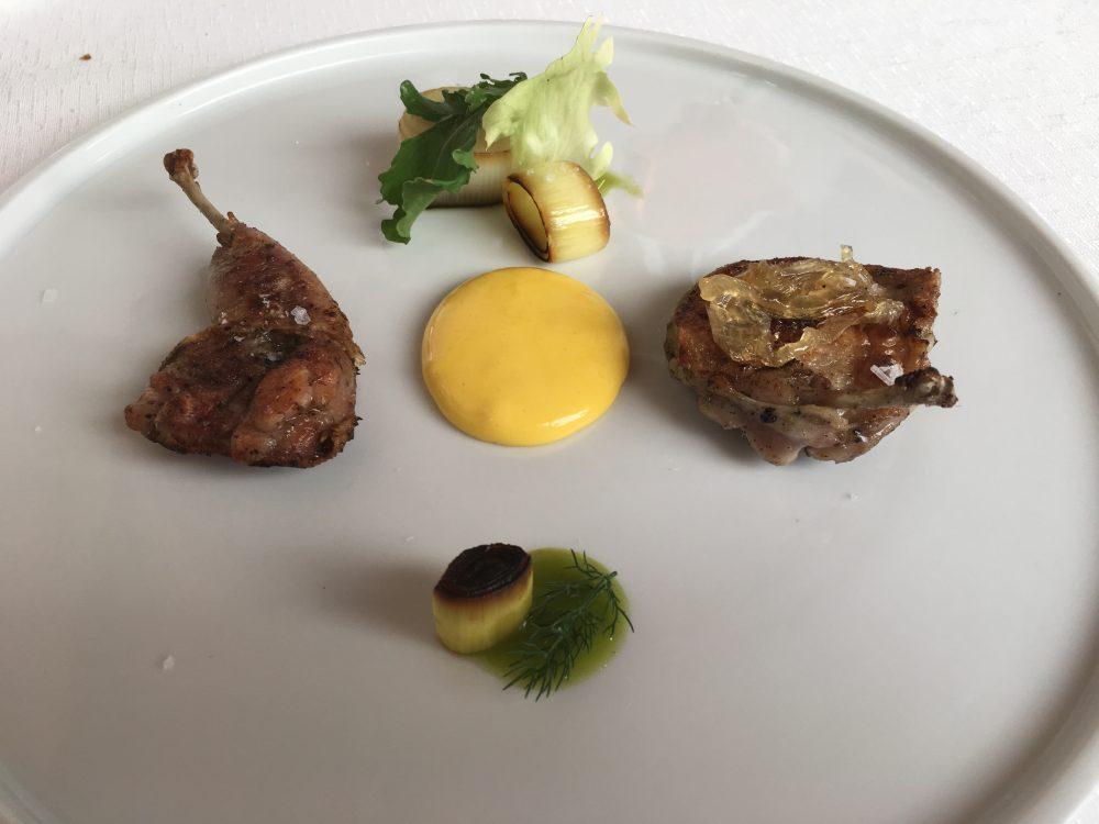 Arbustico - Quaglia alla brace zabaione all'aceto e cipolla caramellata