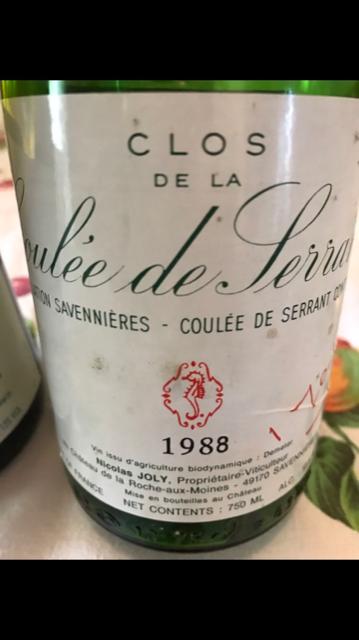 Coulee de Serrant tra presente e passato 1998