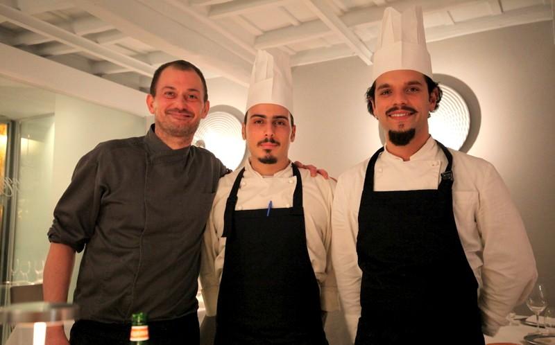 La Penna d'Oca, Lo Chef Massimilano Valenti & La sua Brigata