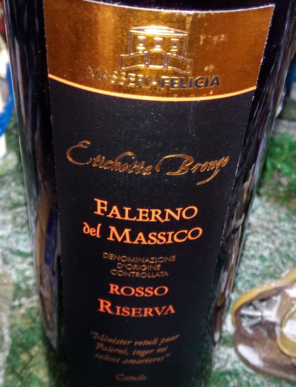 Falerno del Massico Rosso Riserva Etichetta di Bronzo Doc 2011 Masseria Felicia