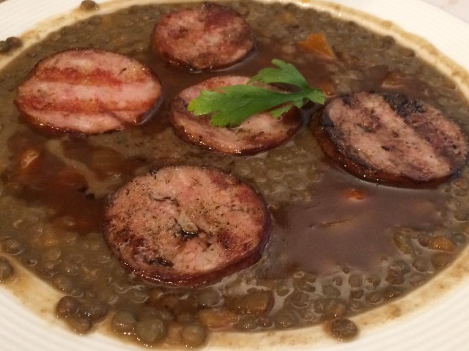Gai Moulin Bistro, cotechino con lenticchie