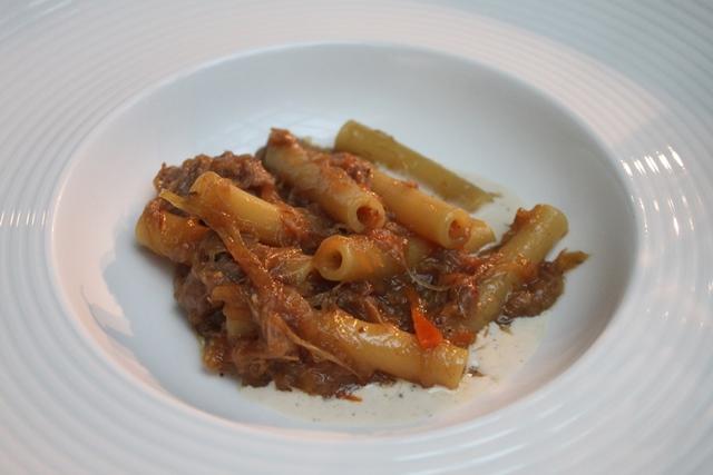 Genovese di agnello su salsa cacio e pepe