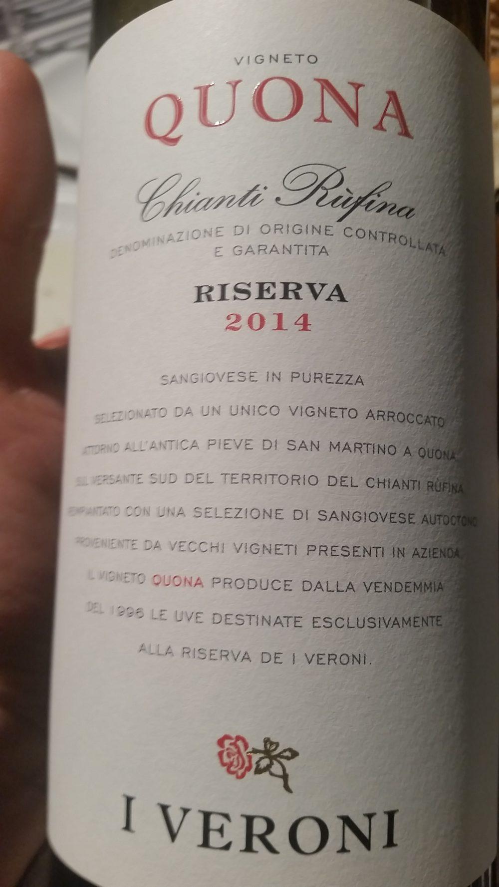 I Veroni - Chianti Rufina Riserva 2014