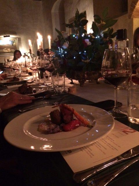 La cena preparata dallo chef Fabio Bianconi per festeggiare i 50 anni di Castello del Trebbio