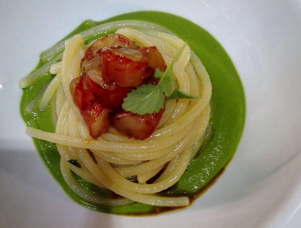 Osteria al Paese - Spaghetti broccoli gamberi rossi