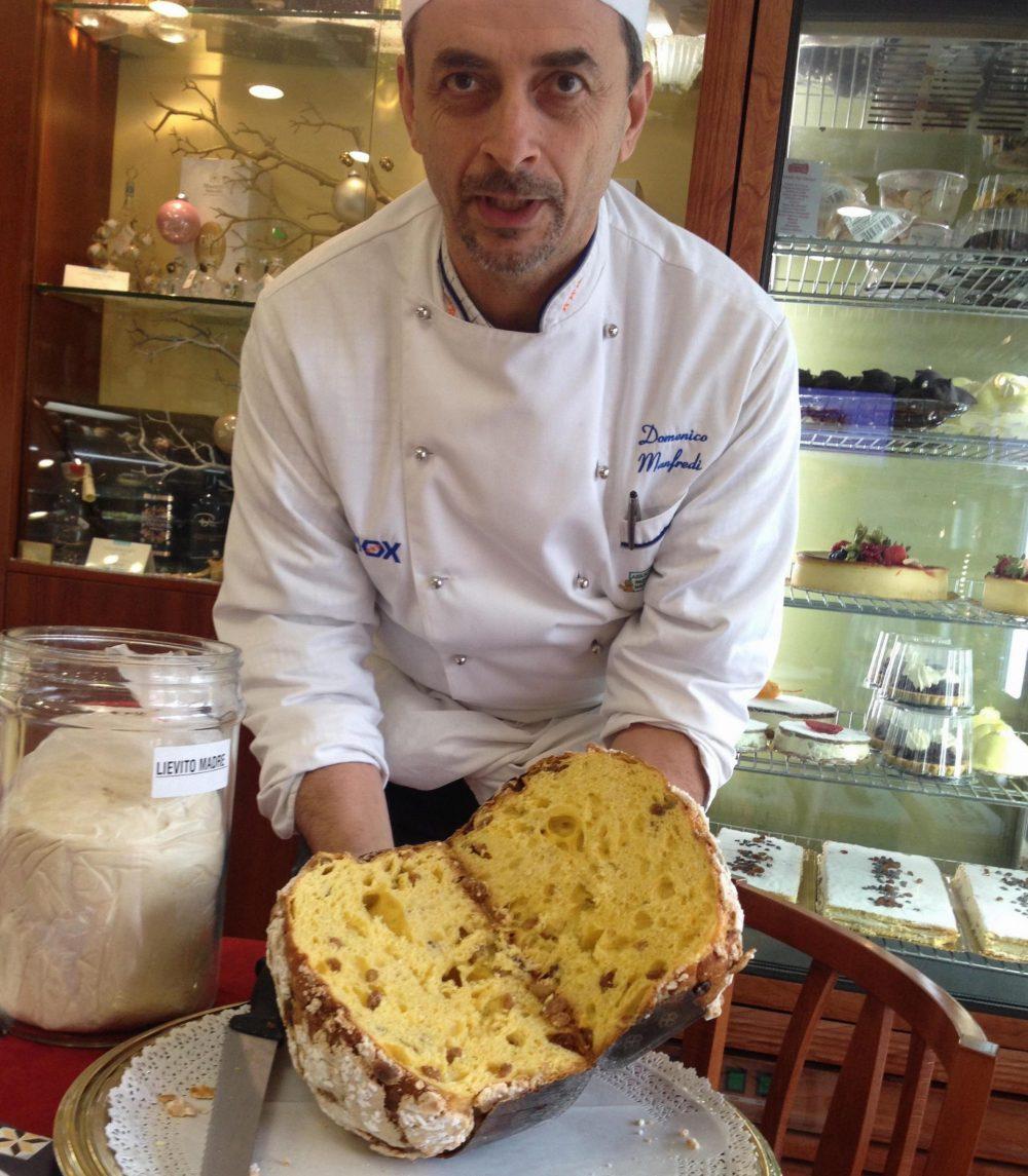 Pasticceria D'Elia - panettone aperto