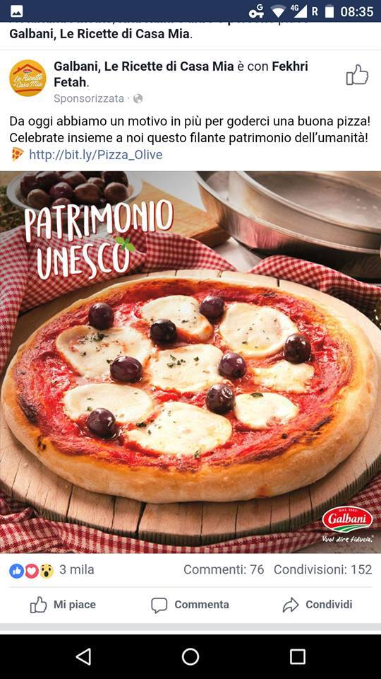 Pizza Unesco Galbani
