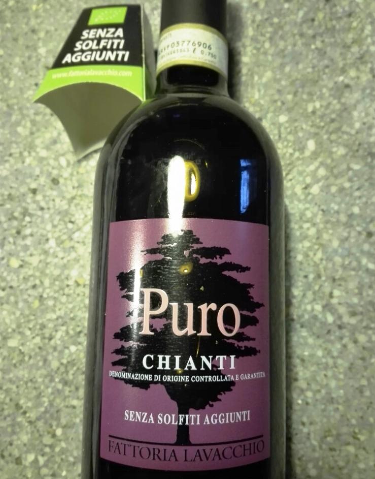 Puro – Sulphite free Chianti docg Fattoria Lavacchio 2016