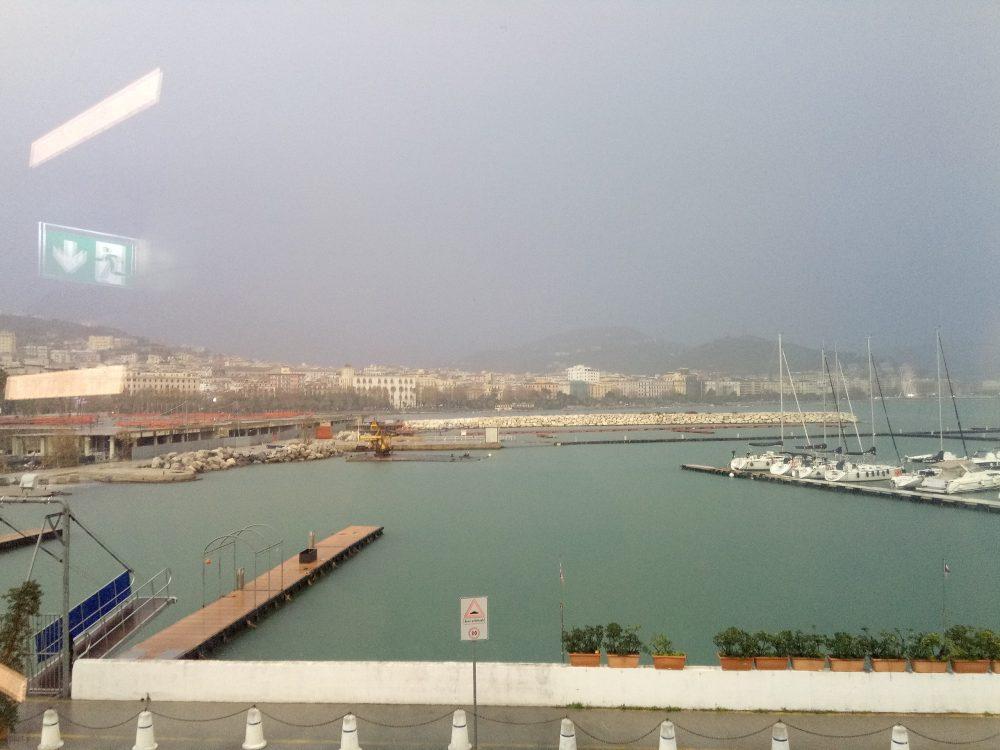 Salerno vista dalla nuova stazione marittima